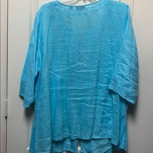 Avenue Tops - Blue shirt with embellishments